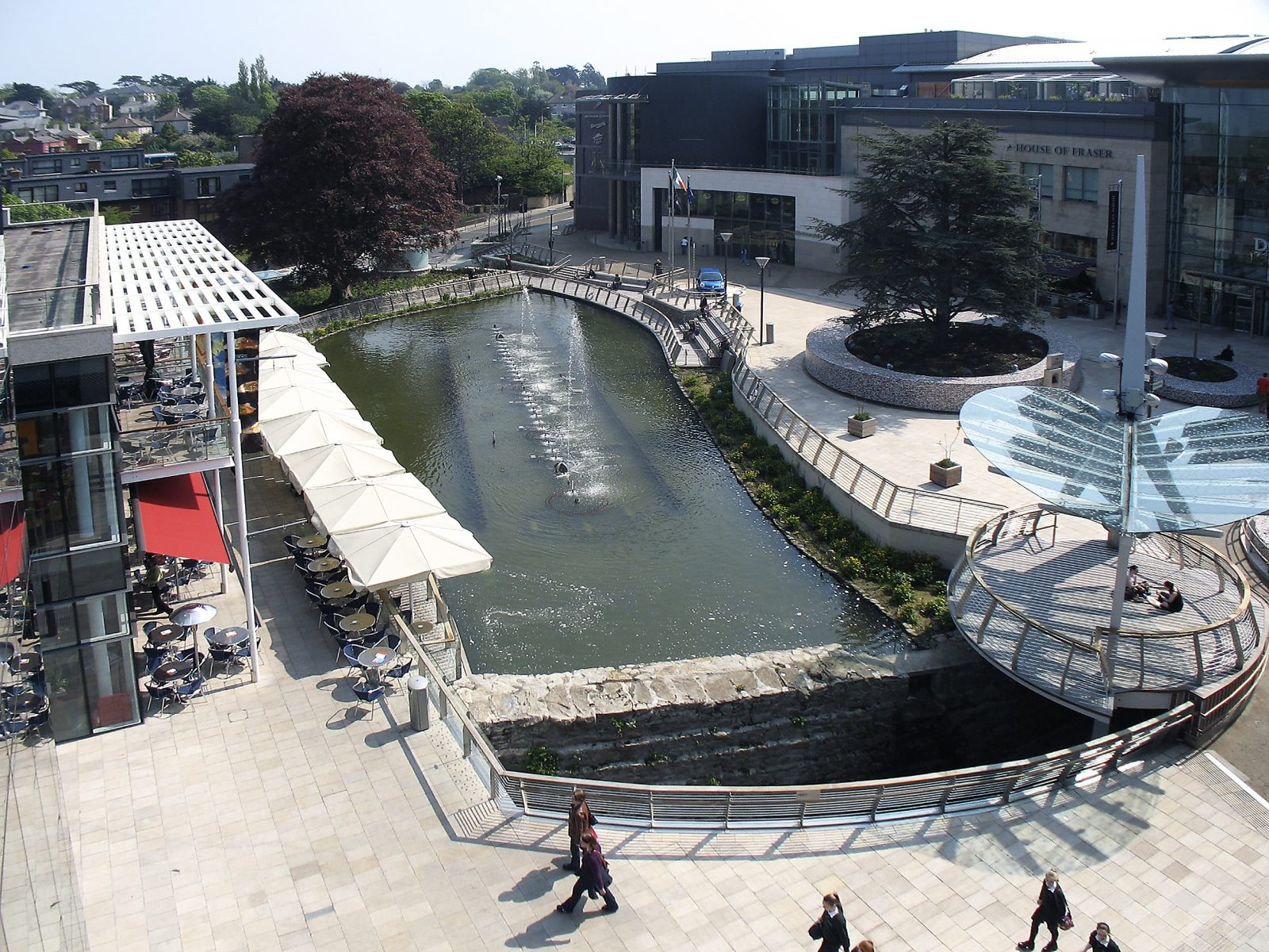 Dundrum Town pond aerial view