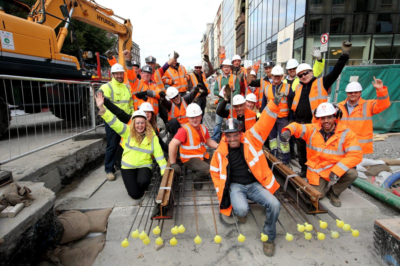 Sisk Steconfer JV team at Westmoreland Street
