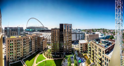 Wembley Park Overview, London, UK